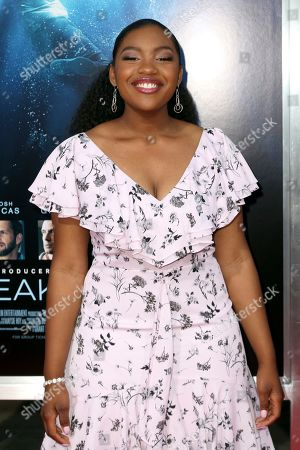 "Stock Picture of Taylor Mosby arrives at the LA Premiere of ""Breakthrough"" at the Regency Village, in Los Angeles"