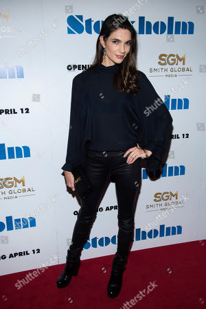 "Teresa Moore attends the premiere of ""Stockholm"" at the Museum of Modern Art, in New York"