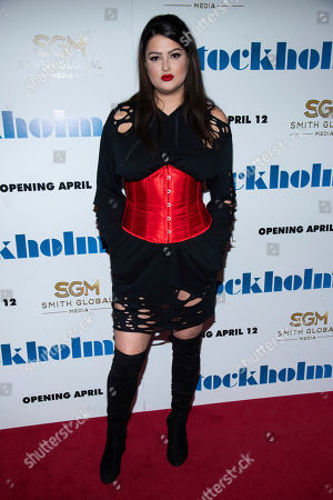 "Lily Lane attends the premiere of ""Stockholm"" at the Museum of Modern Art, in New York"