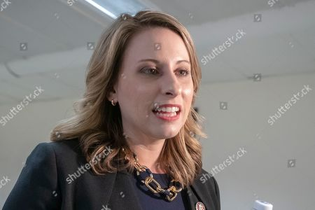 Rep. Katie Hill, D-Calif., is seen on Capitol Hill in Washington, . House Democrats are rounding the first 100 days of their new majority taking stock of their accomplishments, noting the stumbles and marking their place as a frontline of resistance to President Donald Trump
