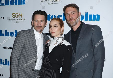 Stock Picture of Ethan Hawke, Noomi Rapace and Robert Budreau, writer/director