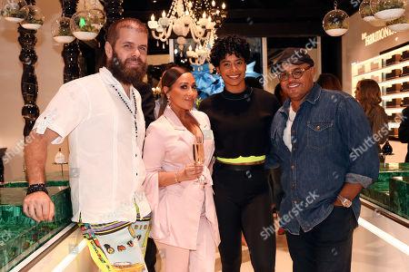 Perez Hilton, Adrienne Houghton, Massy Arias and Israel Houghton