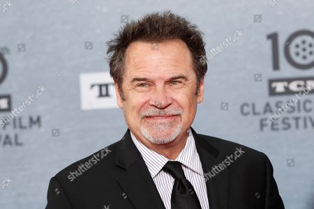 US comedian and talk show host Dennis Miller arrives for the 30th Anniversary Screening of 'When Harry Met Sally' presented as the Opening Night Gala of the 2019 TCM Classic Film Festival at the TCL Chinese Theatre IMAX in Hollywood, Los Angeles, California, USA, 11 April 2019.