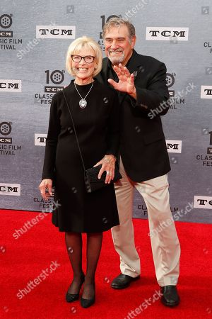 Stock Picture of Patty McCormack (L) and Dan Lauria arrive for the 30th Anniversary Screening of 'When Harry Met Sally' presented as the Opening Night Gala of the 2019 TCM Classic Film Festival at the TCL Chinese Theatre IMAX in Hollywood, Los Angeles, California, USA, 11 April 2019.