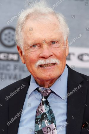 US media mogul and philanthropist Ted Turner arrives for the 30th Anniversary Screening of 'When Harry Met Sally' presented as the Opening Night Gala of the 2019 TCM Classic Film Festival at the TCL Chinese Theatre IMAX in Hollywood, Los Angeles, California, USA, 11 April 2019.