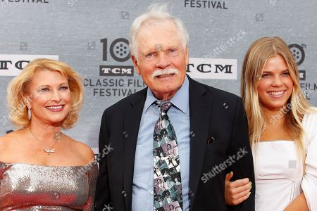 Mimi Bean, Ted Turner, Laura Elizabeth Seydel arrive for the 30th Anniversary Screening of 'When Harry Met Sally' presented as the Opening Night Gala of the 2019 TCM Classic Film Festival at the TCL Chinese Theatre IMAX in Hollywood, Los Angeles, California, USA, 11 April 2019.