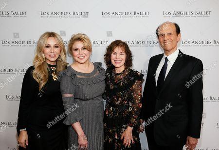 Anastasia Soare, Ghada Irani, Lori Milken and Michael Milken