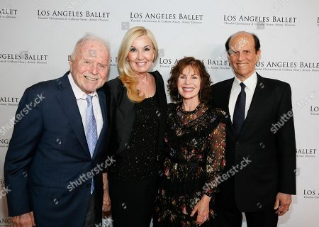 Richard Riordan, Elizabeth Riordan, Lori Milken and Michael Milken