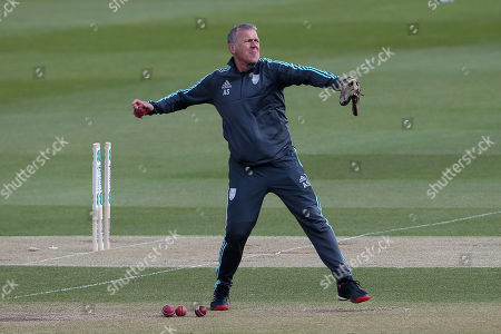 Stock Image of Alec Stewart of Surrey during Surrey CCC vs Essex CCC, Specsavers County Championship Division 1 Cricket at the Kia Oval on 12th April 2019