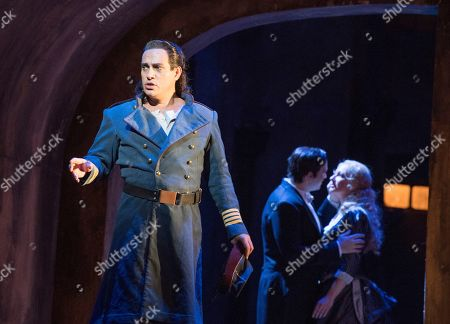 Erwin Schrott as Mephistopheles, Michael Fabiano as Faust, Irina Lungu as Marguerite