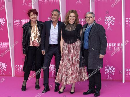 Producer Pascale Breugnot, actor Jean-Michel Tinivelli, actress Marine Delterme and producer Vincent Moluquet