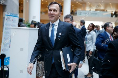 Canadian Finance Minister Bill Morneau arrives for the G-20 meeting at IMF headquarters in Washington, DC, USA, 12 April 2019. International Monetary Fund World Bank Group Spring Meetings run 09-13 April 2019.