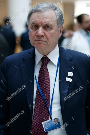 Governor of the Bank of Italy Ignazio Visco arrives for the G-20 meeting at IMF headquarters in Washington, DC, USA, 12 April 2019. International Monetary Fund World Bank Group Spring Meetings run 09-13 April 2019.