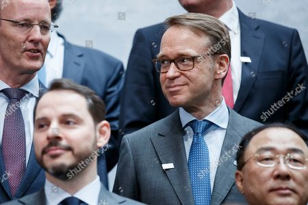President of the Deutsche Bundesbank Jens Weidmann following the G-20 meeting at IMF headquarters in Washington, DC, USA, 12 April 2019. International Monetary Fund World Bank Group Spring Meetings run 09-13 April 2019.