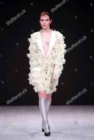 Editorial photo of Alberto Zambelli, runway, Belarus Fashion Week, Minsk - 12 Apr 2019