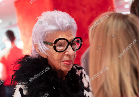 Stock Picture of Fashion icon Iris Apfel attends the opening of Story at Macy's, in New York