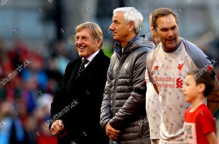 Republic of Ireland Legends vs Liverpool Legends. Liverpool Legends manager Sir Kenny Dalglish