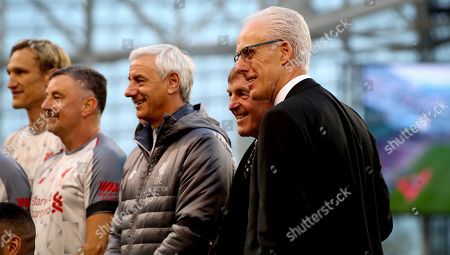 Republic of Ireland Legends vs Liverpool Legends. Liverpool Legends manager Sir Kenny Dalglish with Republic of Ireland Legends manager Mick McCarthy