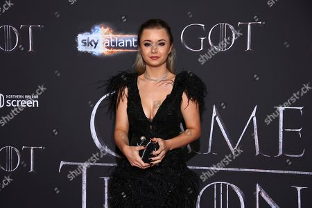 Kerry Ingram poses for photographers at the premiere of season eight of the television show 'Game of Thrones' in Belfast, Northern Ireland