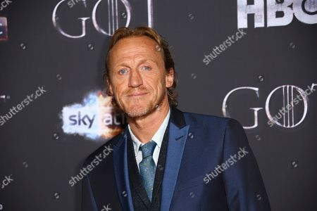 Jerome Flynn poses for photographers at the premiere of season eight of the television show 'Game of Thrones' in Belfast, Northern Ireland