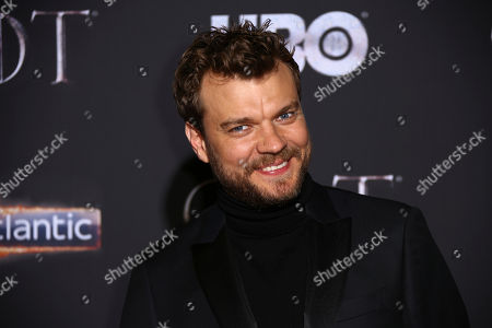 Pilou Asbaek poses for photographers at the premiere of season eight of the television show 'Game of Thrones' in Belfast, Northern Ireland