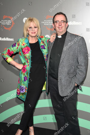 Stock Image of Joanna Lumley, Reverend Richard Coles