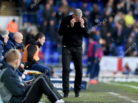 Manager of Ipswich Town, Paul Lambert shows his frustration and disappointment as Ipswich Town are relegated - Ipswich Town v Birmingham City, Sky Bet Championship, Portman Road, Ipswich - 13th April 2019 Editorial Use Only - DataCo restrictions apply