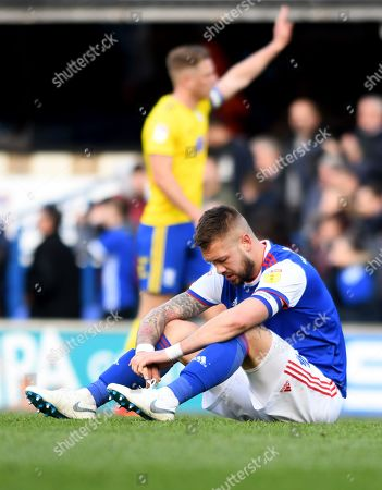 Ipswich Town captain Luke Chambers at the end of the match - Ipswich Town v Birmingham City, Sky Bet Championship, Portman Road, Ipswich - 13th April 2019 Editorial Use Only - DataCo restrictions apply