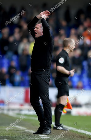 Ipswich Town Manager Paul Lambert shows his frustration during the match - Ipswich Town v Birmingham City, Sky Bet Championship, Portman Road, Ipswich - 13th April 2019 Editorial Use Only - DataCo restrictions apply