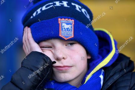 Dejection from Ipswich Town fans after they see their team relegated from the Championship - Ipswich Town v Birmingham City, Sky Bet Championship, Portman Road, Ipswich - 13th April 2019 Editorial Use Only - DataCo restrictions apply