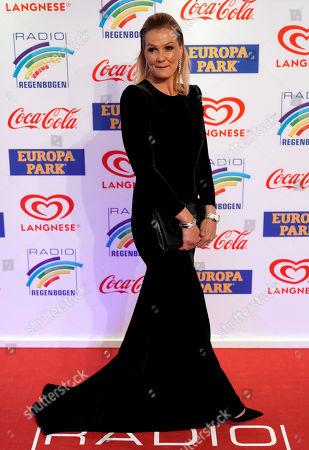 Stock Image of German former swimmer Franziska van Almsick attends the Radio Regenbogen Award ceremony in Rust near Freiburg, Germany, 12 April 2019. The Radio Regenbogen Award is one of the most important media awards of the German radio scene.