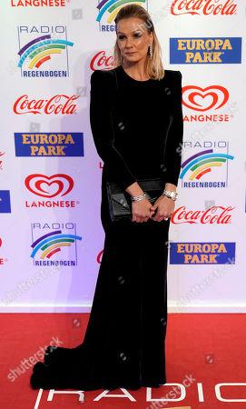 Stock Photo of German former swimmer Franziska van Almsick attends the Radio Regenbogen Award ceremony in Rust near Freiburg, Germany, 12 April 2019. The Radio Regenbogen Award is one of the most important media awards of the German radio scene.