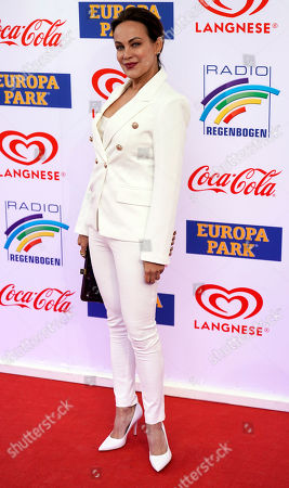 German actress Sonja Kirchberger attends the Radio Regenbogen Award ceremony in Rust near Freiburg, Germany, 12 April 2019. The Radio Regenbogen Award is one of the most important media awards of the German radio scene.