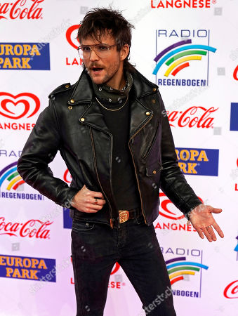 US musician Martin Johnson of the Band The Night Game attends the Radio Regenbogen Award ceremony in Rust near Freiburg, Germany, 12 April 2019. The Radio Regenbogen Award is one of the most important media awards of the German radio scene.