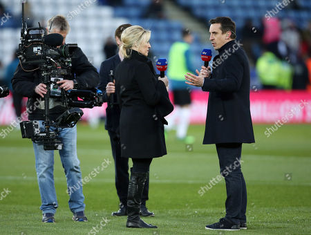 Sky Sports presenter Kelly Cates and pundit Gary Neville