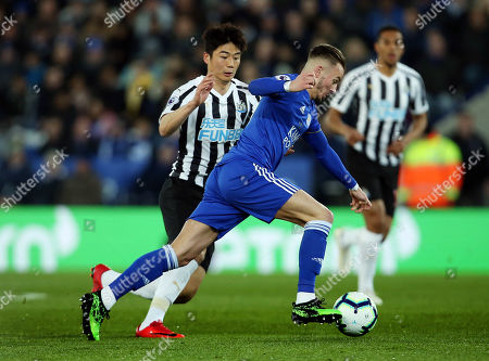 James Maddison of Leicester City and Ki Sung-Yueng of Newcastle United