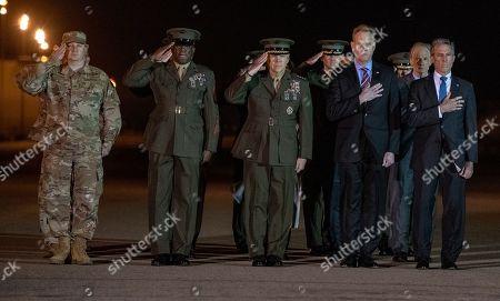 Editorial photo of Casualty Return USMC Staff Sgt. Christopher A. Slutman, Delaware, USA - 11 Apr 2019