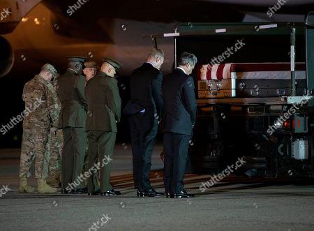 Editorial image of Casualty Return USMC Staff Sgt. Christopher A. Slutman, Delaware, USA - 11 Apr 2019