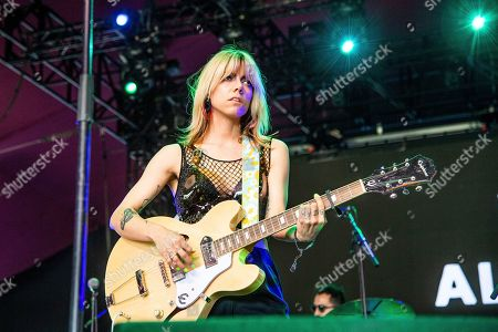Alynda Lee Segarra of Hurray for the Riff Raff performs at the Coachella Music & Arts Festival at the Empire Polo Club, in Indio, Calif