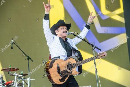 Mario Quintero Lara of Los Tucanes de Tijuana performs the Coachella Music & Arts Festival at the Empire Polo Club, in Indio, Calif