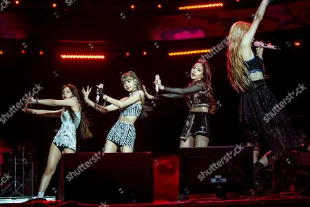 Jennie Kim, Lisa, Jisoo, Rose. Jennie Kim, from left, Lisa, Jisoo and Rose of BLACKPINK perform at the Coachella Music & Arts Festival at the Empire Polo Club, in Indio, Calif