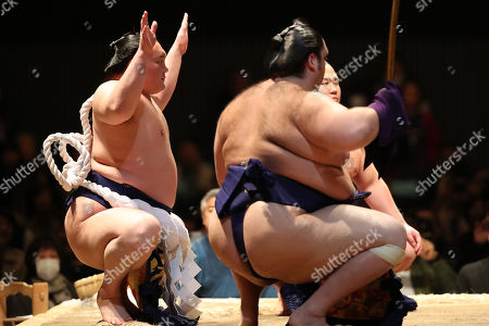 Editorial picture of Kawasaki Sumo Tournament, Kanagawa, Japan - 12 Apr 2019