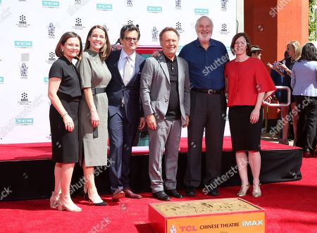 Stock Image of Billy Crystal, Ben Mankiewicz, Rob Reiner, Jennifer Dorian, Charles Tabesh, Genevieve McGillicuddy