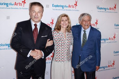 Alec Baldwin, Susan Crow and Tony Bennett