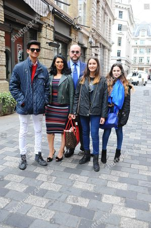 Janine Nerissa, Jonathan Sothcott with their children Dylan, Hannah and Grace