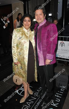 Stock Image of Gurinder Chadha and Paul Mayeda Berges