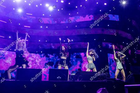 Rose, Jisoo, Lisa, Jennie Kim. Rose, from left, Jisoo, Lisa, and Jennie Kim of BLACKPINK perform at the Coachella Music & Arts Festival at the Empire Polo Club, in Indio, Calif