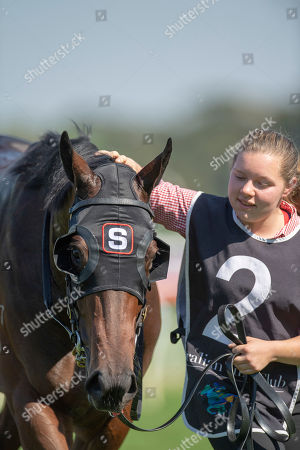 Sydney, U.S. - ROYAL RANDWICK, SYDNEY â?? : Anaheed , ridden by Tim Clark wins the Camera House Percy Sykes Stakes on second day of the Championships at Royal Randwick Racecourse in Sydney. Michael McInally/Eclipse Sportswire/CSM