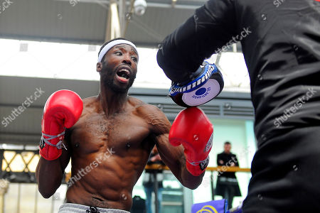 John Harding Jr during a Public Workout at Old Spitalfields Market on 12th April 2019