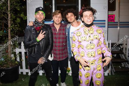 Alex Gaskarth, KAYZO, Grandson, Yungblud. Alex Gaskarth, from left, KAYZO, Grandson, and Yungblud pose at the Coachella Music & Arts Festival at the Empire Polo Club, in Indio, Calif